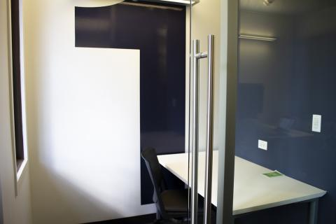 Business Cubicle with table an chair